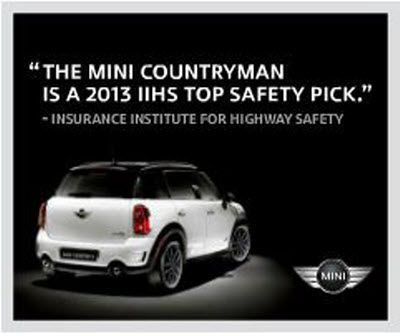 The 2013 Mini Countryman Is A 2013 Iihs Top Safety Pick Mini Countryman Highway Safety Mini