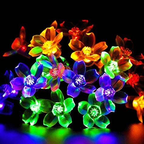 Uping Guirlande Lumineuse Led Solaire 50 Ampoules Fleur 7 Metres