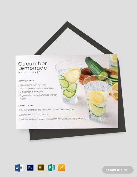 Drink Recipe Card Template Free Pdf Word Psd Apple Pages Illustrator Publisher Recipe Cards Template Recipe Cards Recipe Cards Printable Free