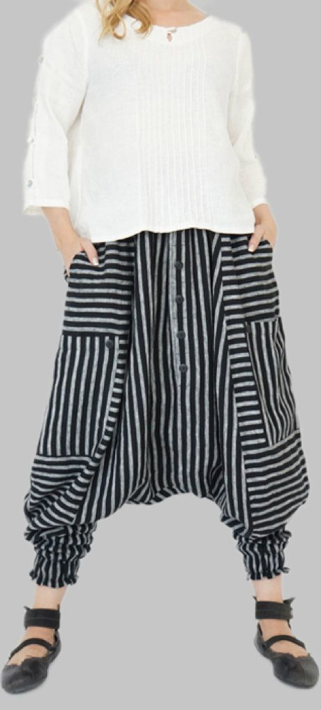 LSC13 Cotton Women Harem Pants Yoga Pants Samurai Pants Maxi Pants Gypsy Pants Drop Crotch PantsTrouser Convertible Pants Brown