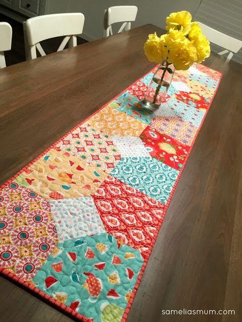 Layers of Charm - Table Runner #iloverileyblake #fabricismyfun