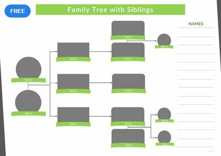 Free Family Tree Template With Siblings Free Family Tree