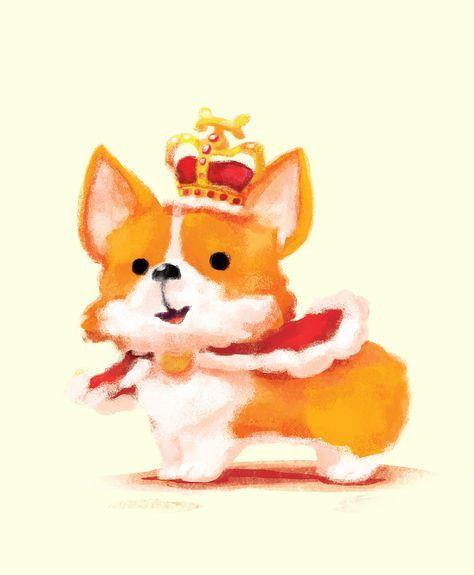 26 Ideas For Wall Paper Cute Cartoon Smile Corgi Drawing Corgi Art Dog Drawing