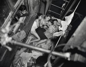 Heatspell, 1938.  Children sleeping on the fire-escape.