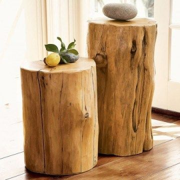 Original Simple Wooden Diy Furniture From Tree Trunks New Ideas With Images Tree Stump Table Handmade Wood Furniture Tree Stump Decor