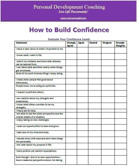 Personal Development Worksheet Self Improvement Worksheets personal development worksheet