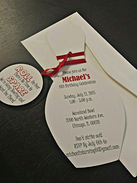 Printable Chalkboard Bowling Ticket Birthday Invitation Digital - fresh birthday party invitation message to friends