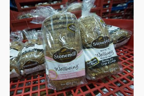 """""""Stonemill Bakehouse  has put out two kinds of bread-- one labelled for men and one for women. They have slight differences in their recipes."""" Sent in by @ HigherEdChange, @ wendysawatzky and @ Interesting_IP"""
