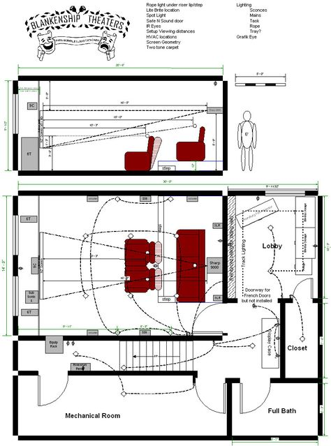Home Theatre Design Layout Enormous Basement Home Theater Plans.