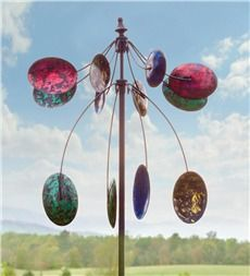 Two-Tiered Kaleidoscope Kinetic Garden Spinner