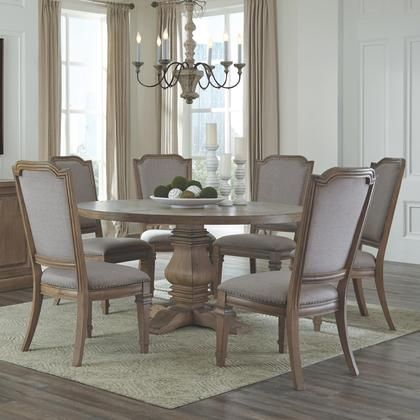 Florence Collection 180200c 7 Pc Dining Room Set With Dining Table