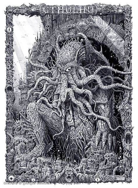"""Cthulhu is a fictional cosmic entity created by horror author H. P. Lovecraft in 1926. The first appearance of the entity was in the short story """"The Call of Cthulhu"""" published in Weird Tales in 1928."""