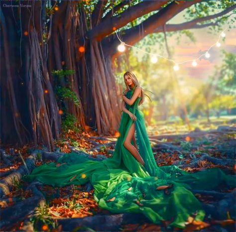 Fantasy forest animation I made 💚✨