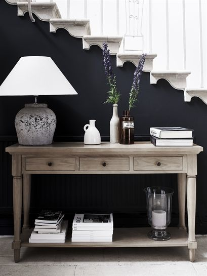 Henley Console Table With Drawers And Shelf Neptune Hall Decor