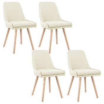 MCTECH® 4er Set Retro Esszimmerstühle Besucher Stuhl