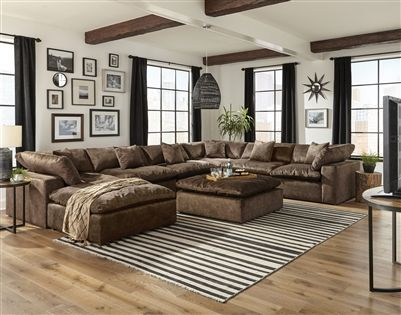 Plush 6 Piece Fabric Sectional By Jackson Furniture 4446 6
