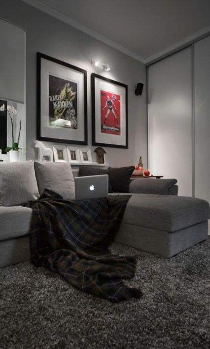 22 Ideas For Home Art Studio Basement Small Spaces Grey Carpet Living Room Living Room Grey Apartment Living Room