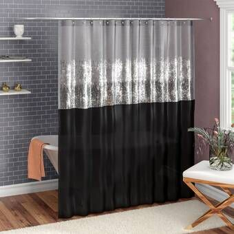 Irie Striped Single Shower Curtain In 2020 Modern Shower
