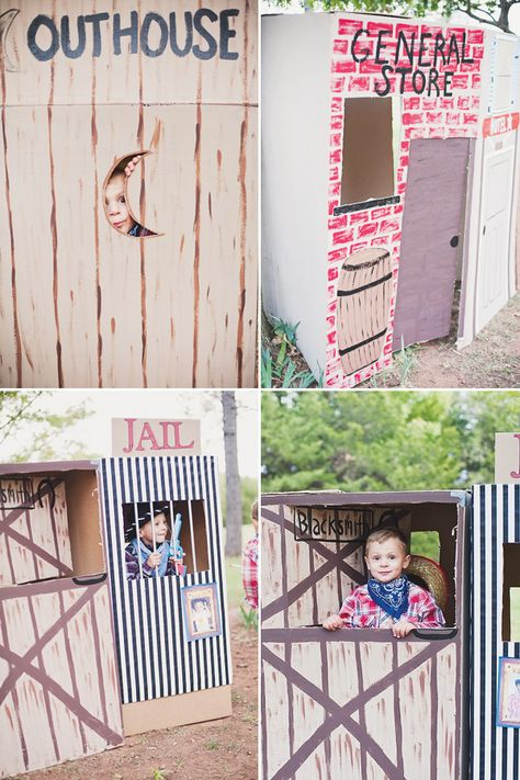 design a cardboard box western town | Wild West Cowboy Party {Joint Birthday} // Hostess with the Mostess®