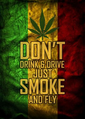 Funny Don/'t Drink And Drive Just Smoke And Fly Gift Top Weed Smoker T-shirt