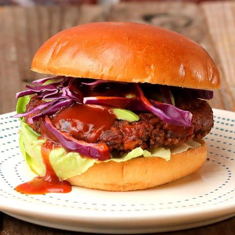 All the flavor of a smoky barbecue captured in one meatless burger!