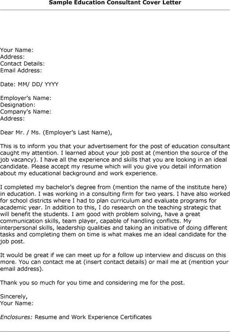 Design Consultant Cover Letter] Cover Letter Strategy Consulting ...