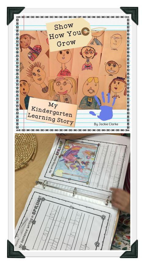 Using Work Sample Portfolios to Show Growth in Kindergarten - Roots and Wings Kindergarten Assessment, Writing Assessment, Beginning Of Kindergarten, Kindergarten Curriculum, Beginning Of The School Year, Kindergarten Writing, Sentence Writing, Alphabet Writing, Writing Rubrics