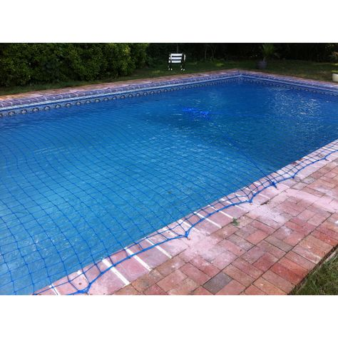 Water Warden Pool Safety Blue Net For In Ground Pool 15 X 30 As Is Item 15 X 30 Smart Pool Pool Safety Net Pool Safety In Ground Pools