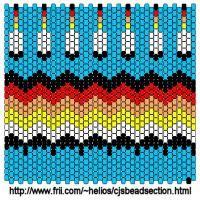 Bead Wrapped Pen Native American Design