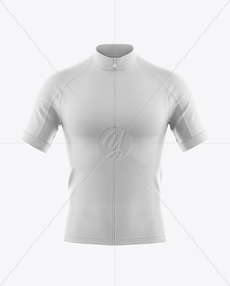 Download Men S Full Zip Cycling Jersey Mockup Front View Psd