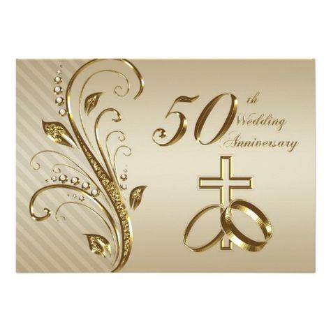 50th Wedding Anniversary Party Elegant 50th Anniversary Invitations