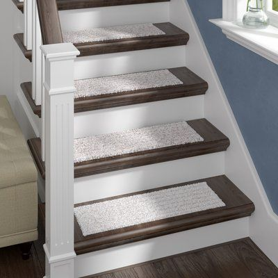 Darby Home Co Berkine Natural Stair Tread Wayfair Diy | Wayfair Stair Carpet Runners | Textured Carpet | Rosalind Wheeler | Staircase Makeover | Treads Carpet | Brown Beige