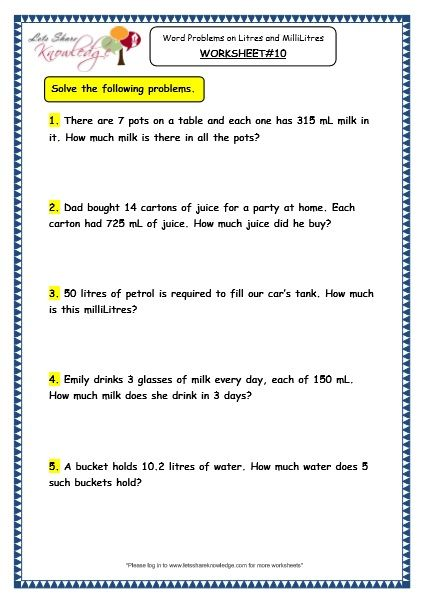 47++ 3rd grade math word problems worksheets Most Effective