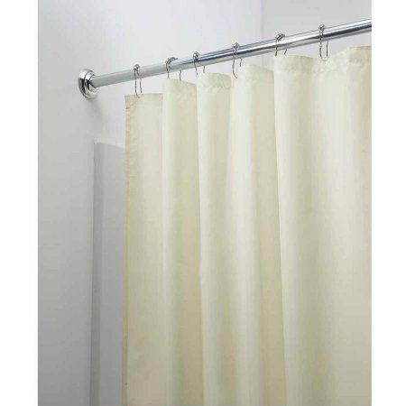 Interdesign Mildew Free Water Repellent Fabric Shower Curtain 54 Inch X 78 Inch Sand Beige Fabric Shower Curtains Shower Curtain Interdesign