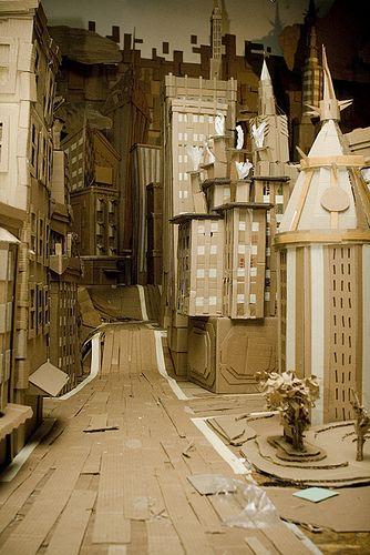 cardboard city by Louie Rockstrong, via Flickr