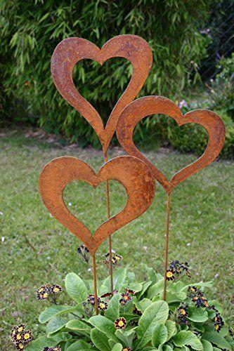 Pin Von Diro Loehle Auf Gartendeko Rost Deko Garten Edelrost Gartendeko Metall