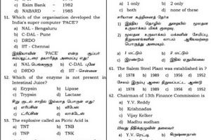 Tnpsc General Knowledge Model Exam Questions With Answers 10 12