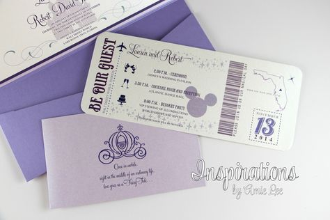 Disney Wedding Invitations Disney Boarding Pass Disney Wedding