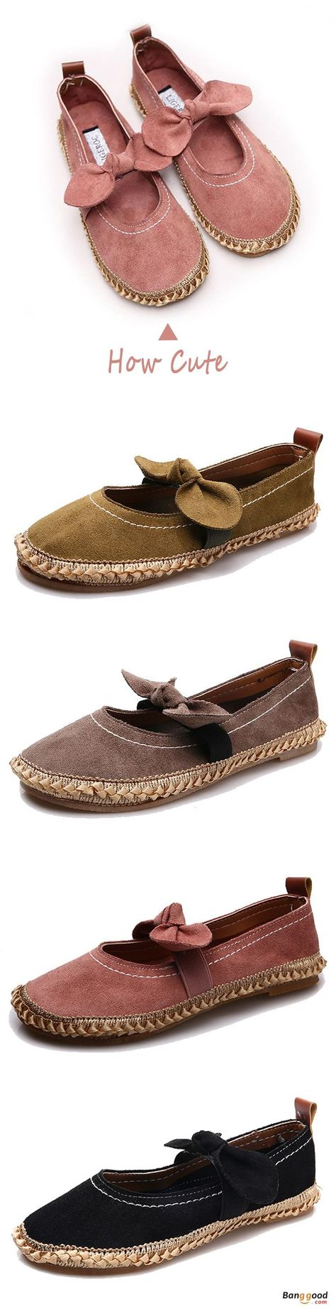 Women Comfy Breathable Striped Slip On Canvas Lazy Loafers Flats Shoes US 5-9