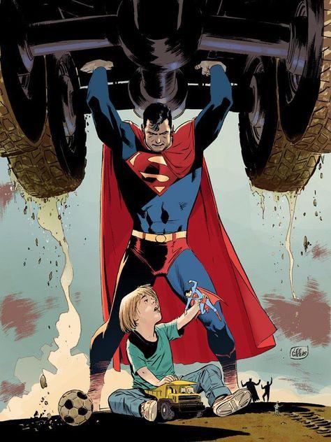 Superman (Clark Kent) - art by Lee Weeks - DC Comics Mundo Superman, Superman Family, Superman Man Of Steel, Batman And Superman, Marvel Dc Comics, Dc Comics Art, Supergirl, Comic Books Art, Comic Art