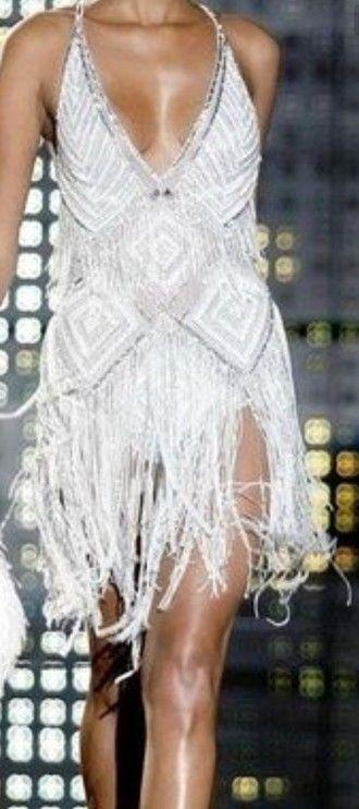 Dress White Fringes Beaded 20s Dresses Zuhair Murad Zuhari
