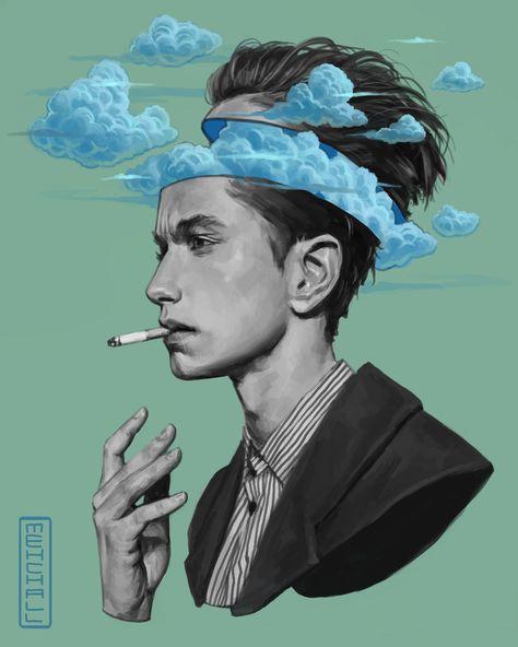 Head in the Clouds, Me, Digital, 2019 : Art