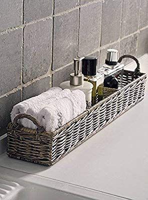 Riviera Maison Rustic Rattan Aufbewahrungskorb Rectangular Basket Fur Kuche Und Bad Amazon Badezimmer Aufbewahrung Badezimmer Badezimmer Renovierungen