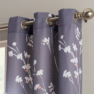 The Big One 2 Pack Floral Decorative Window Curtains Window