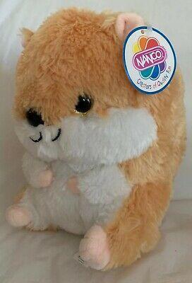 Nanco Plush Gray Hamster Soft Fluffy Stuffed Animal 10 Lovey Brown White Nwt Ebay Fluffy Stuffed Animals Plush Animals Hamster