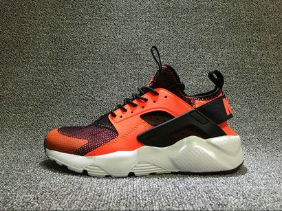 Discount Nike Air Huarache Orange Black_White 819685-008 Unisex Running Shoe For Sale