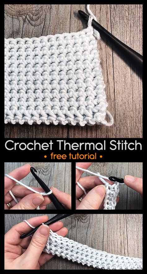 Simple and Beautiful texture. Learn how to crochet thermal stitch. Crochet Quilt, Crochet Motif, Crochet Yarn, Hand Crochet, Crochet Geek, Crochet Potholders, Form Crochet, Quick Crochet, Crochet Basics