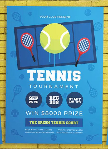 Tennis Tournament Flyer Template Ai Psd Download Tennis Tournaments Flyer Template Flyer Design Templates