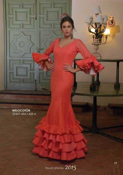 Traje de Flamenca modelo Melocoton