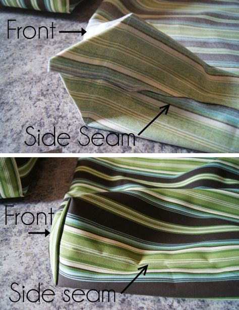 Easy Outdoor Cushion Covers (Part Outdoor cushion. NOTE: cover with water proof fabric first. Then add proper cover that matches decor (df)Outdoor cushion. NOTE: cover with water proof fabric first. Then add proper cover that matches decor (df) Camper Cushions, Outdoor Seat Cushions, Recover Patio Cushions, Garden Seat Cushions, Making Cushions, Patio Furniture Cushions, Patio Cushion Covers, Box Cushion, Making Cushion Covers